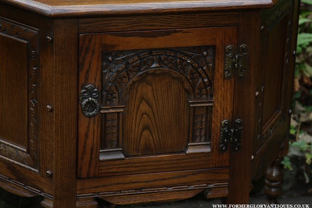 Preview of the first image of OLD CHARM OAK CABINET LAMP HALL TABLE CUPBOARD SIDEBOARD.
