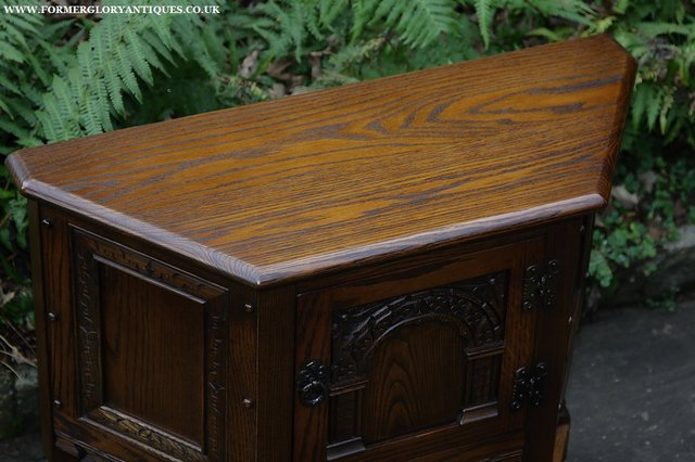 Image 12 of OLD CHARM OAK CABINET LAMP HALL TABLE CUPBOARD SIDEBOARD