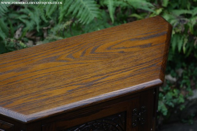 Image 13 of OLD CHARM OAK CABINET LAMP HALL TABLE CUPBOARD SIDEBOARD
