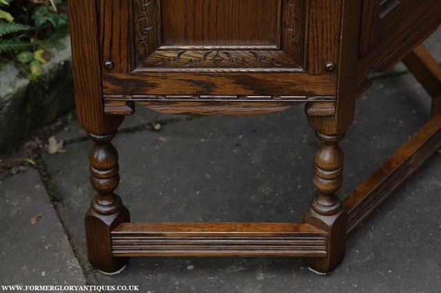Image 14 of OLD CHARM OAK CABINET LAMP HALL TABLE CUPBOARD SIDEBOARD