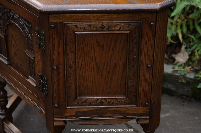 Image 18 of OLD CHARM OAK CABINET LAMP HALL TABLE CUPBOARD SIDEBOARD