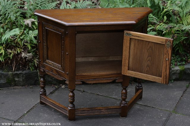 Image 22 of OLD CHARM OAK CABINET LAMP HALL TABLE CUPBOARD SIDEBOARD