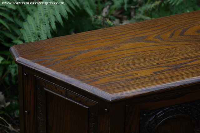 Image 23 of OLD CHARM OAK CABINET LAMP HALL TABLE CUPBOARD SIDEBOARD