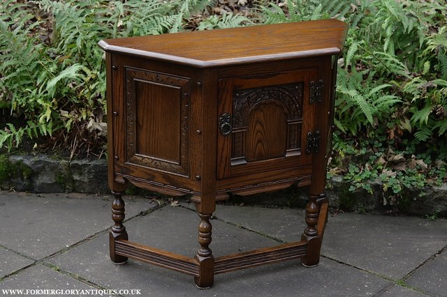 Image 24 of OLD CHARM OAK CABINET LAMP HALL TABLE CUPBOARD SIDEBOARD