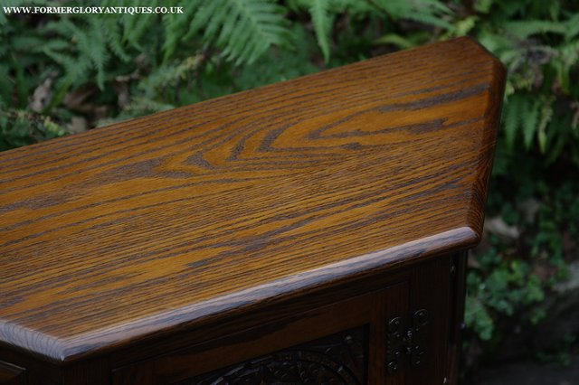 Image 26 of OLD CHARM OAK CABINET LAMP HALL TABLE CUPBOARD SIDEBOARD