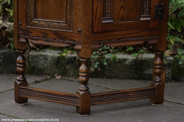 Image 28 of OLD CHARM OAK CABINET LAMP HALL TABLE CUPBOARD SIDEBOARD