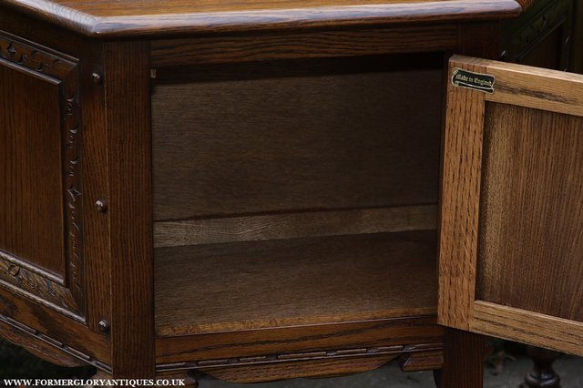 Image 32 of OLD CHARM OAK CABINET LAMP HALL TABLE CUPBOARD SIDEBOARD