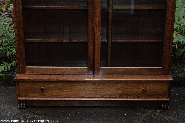 Image 4 of NIGEL GRIFFITHS SOLID OAK BOOKCASE CABINET SHELVES CUPBOARD