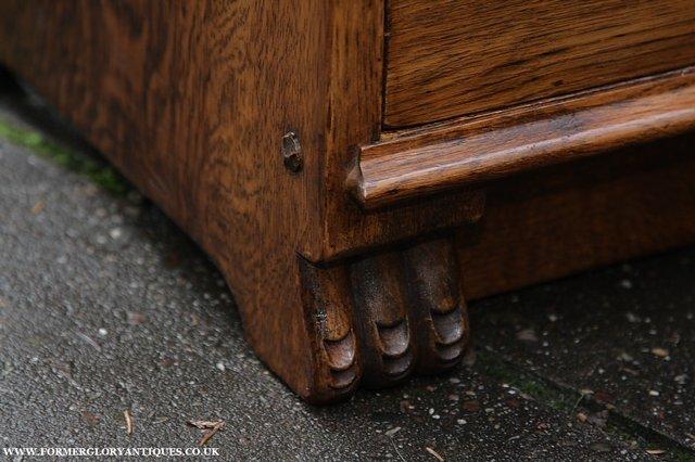 Image 10 of NIGEL GRIFFITHS SOLID OAK BOOKCASE CABINET SHELVES CUPBOARD