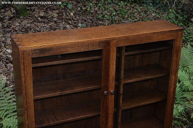 Image 12 of NIGEL GRIFFITHS SOLID OAK BOOKCASE CABINET SHELVES CUPBOARD