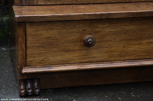 Image 13 of NIGEL GRIFFITHS SOLID OAK BOOKCASE CABINET SHELVES CUPBOARD
