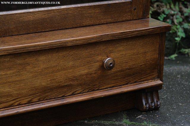 Image 16 of NIGEL GRIFFITHS SOLID OAK BOOKCASE CABINET SHELVES CUPBOARD