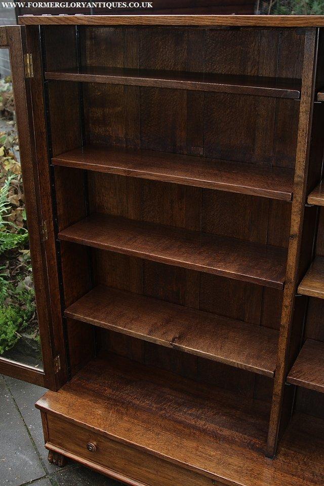 Image 21 of NIGEL GRIFFITHS SOLID OAK BOOKCASE CABINET SHELVES CUPBOARD