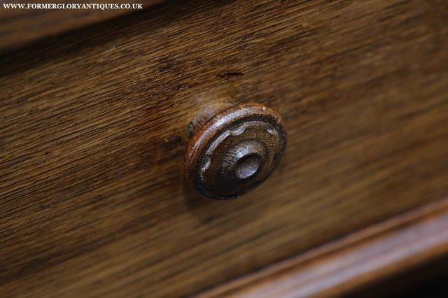 Image 24 of NIGEL GRIFFITHS SOLID OAK BOOKCASE CABINET SHELVES CUPBOARD