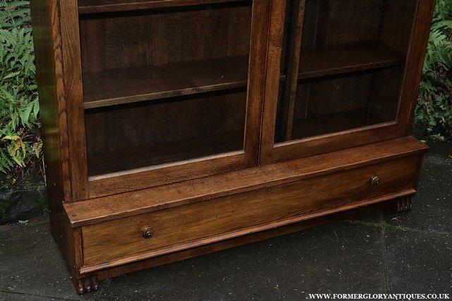 Image 25 of NIGEL GRIFFITHS SOLID OAK BOOKCASE CABINET SHELVES CUPBOARD