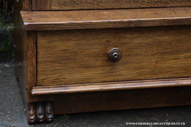 Image 27 of NIGEL GRIFFITHS SOLID OAK BOOKCASE CABINET SHELVES CUPBOARD