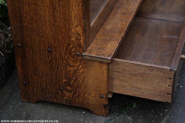 Image 28 of NIGEL GRIFFITHS SOLID OAK BOOKCASE CABINET SHELVES CUPBOARD
