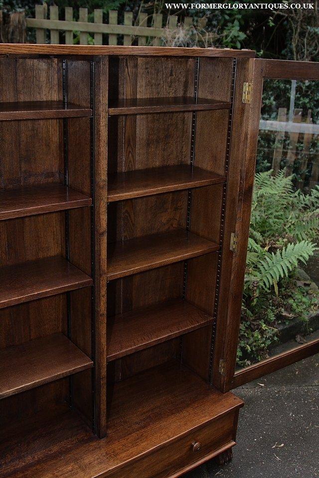 Image 30 of NIGEL GRIFFITHS SOLID OAK BOOKCASE CABINET SHELVES CUPBOARD