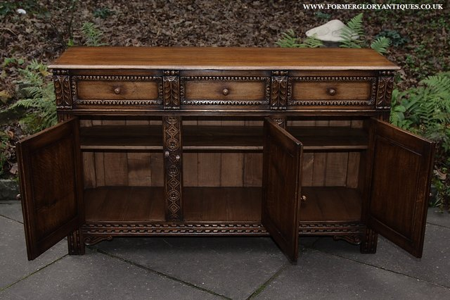 Image 2 of TITCHMARSH AND GOODWIN STYLE OAK SIDEBOARD DRESSER BASE