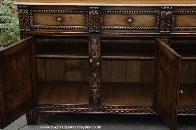 Image 14 of TITCHMARSH AND GOODWIN STYLE OAK SIDEBOARD DRESSER BASE