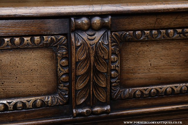 Image 18 of TITCHMARSH AND GOODWIN STYLE OAK SIDEBOARD DRESSER BASE
