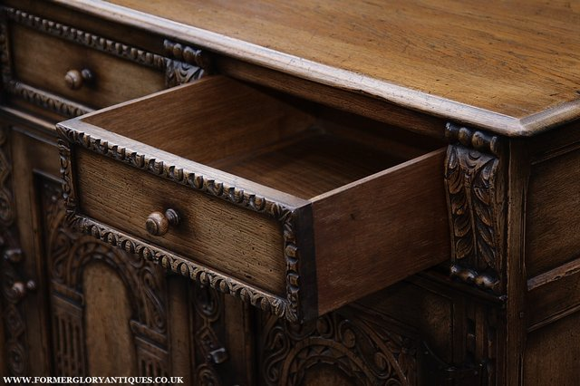 Image 23 of TITCHMARSH AND GOODWIN STYLE OAK SIDEBOARD DRESSER BASE