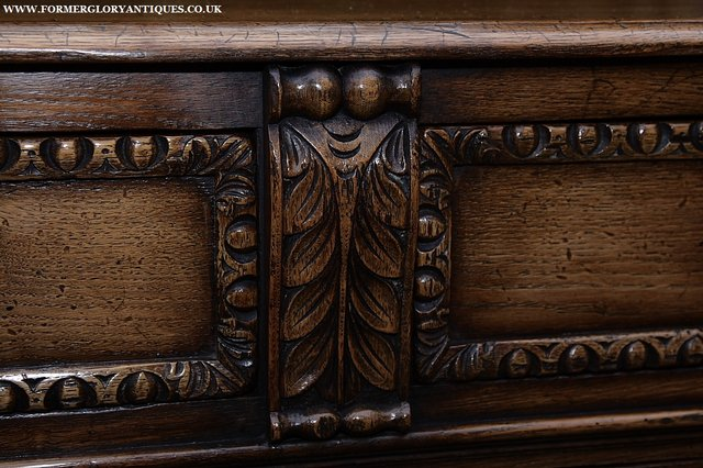Image 25 of TITCHMARSH AND GOODWIN STYLE OAK SIDEBOARD DRESSER BASE