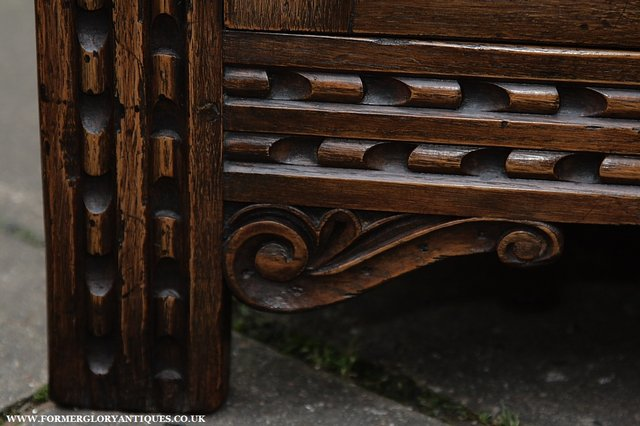 Image 33 of TITCHMARSH AND GOODWIN STYLE OAK SIDEBOARD DRESSER BASE