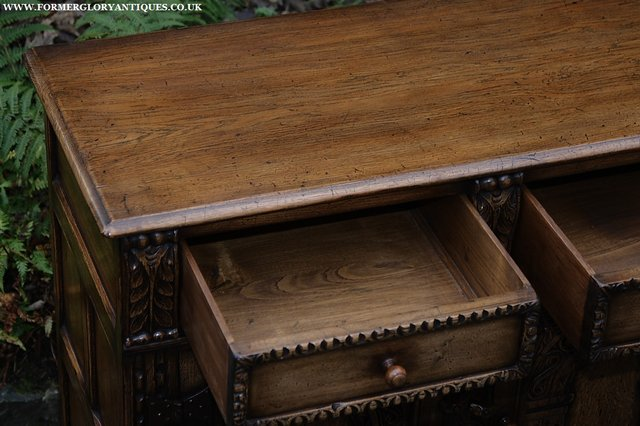 Image 34 of TITCHMARSH AND GOODWIN STYLE OAK SIDEBOARD DRESSER BASE
