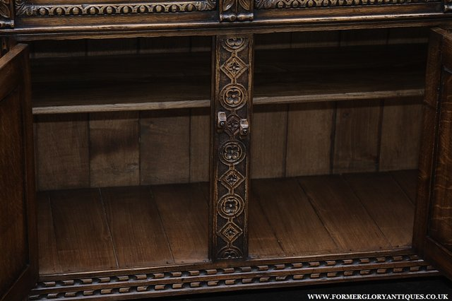 Image 37 of TITCHMARSH AND GOODWIN STYLE OAK SIDEBOARD DRESSER BASE