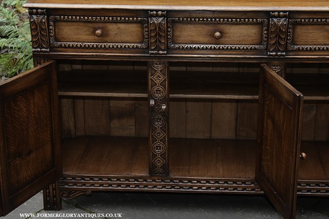 Image 44 of TITCHMARSH AND GOODWIN STYLE OAK SIDEBOARD DRESSER BASE