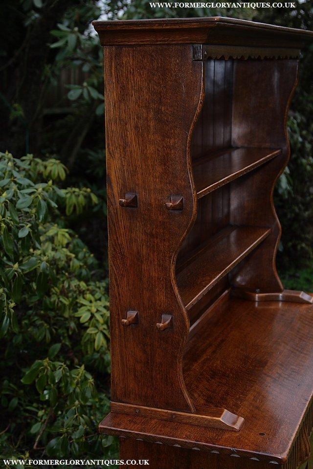 Image 16 of NIGEL GRIFFITHS SOLID OAK DRESSER BASE SIDEBOARD CABINET
