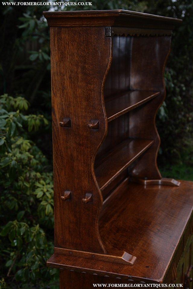 Image 51 of NIGEL GRIFFITHS SOLID OAK DRESSER BASE SIDEBOARD CABINET