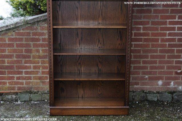 Image 3 of JAYCEE OLD CHARM OAK BOOKCASE WALL OFFICE OPEN BOOK SHELVES