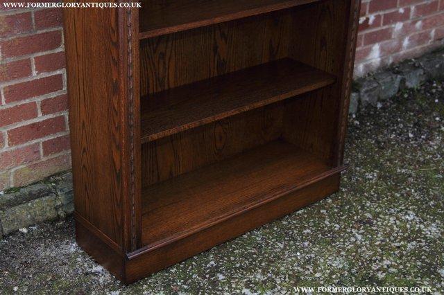 Image 7 of JAYCEE OLD CHARM OAK BOOKCASE WALL OFFICE OPEN BOOK SHELVES