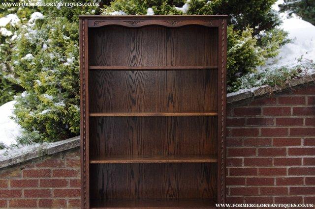 Image 8 of JAYCEE OLD CHARM OAK BOOKCASE WALL OFFICE OPEN BOOK SHELVES
