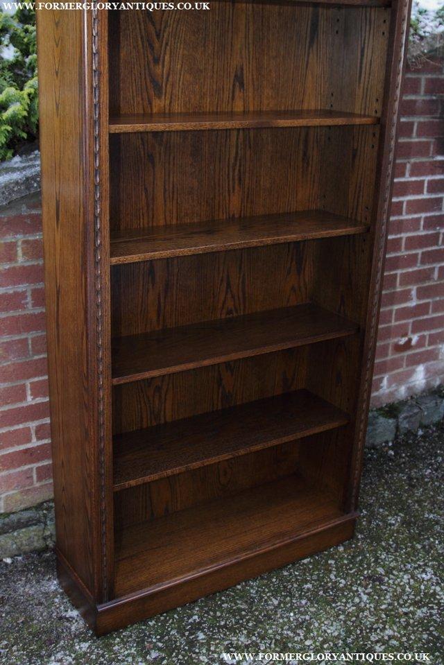 Image 23 of JAYCEE OLD CHARM OAK BOOKCASE WALL OFFICE OPEN BOOK SHELVES