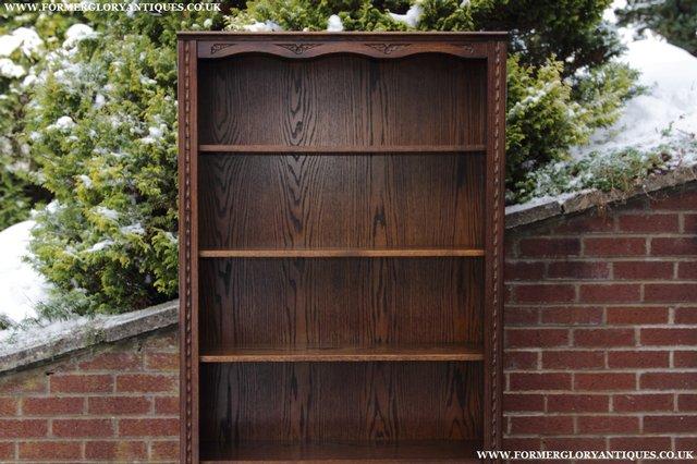 Image 24 of JAYCEE OLD CHARM OAK BOOKCASE WALL OFFICE OPEN BOOK SHELVES