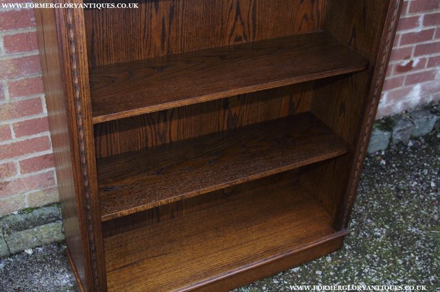 Image 25 of JAYCEE OLD CHARM OAK BOOKCASE WALL OFFICE OPEN BOOK SHELVES