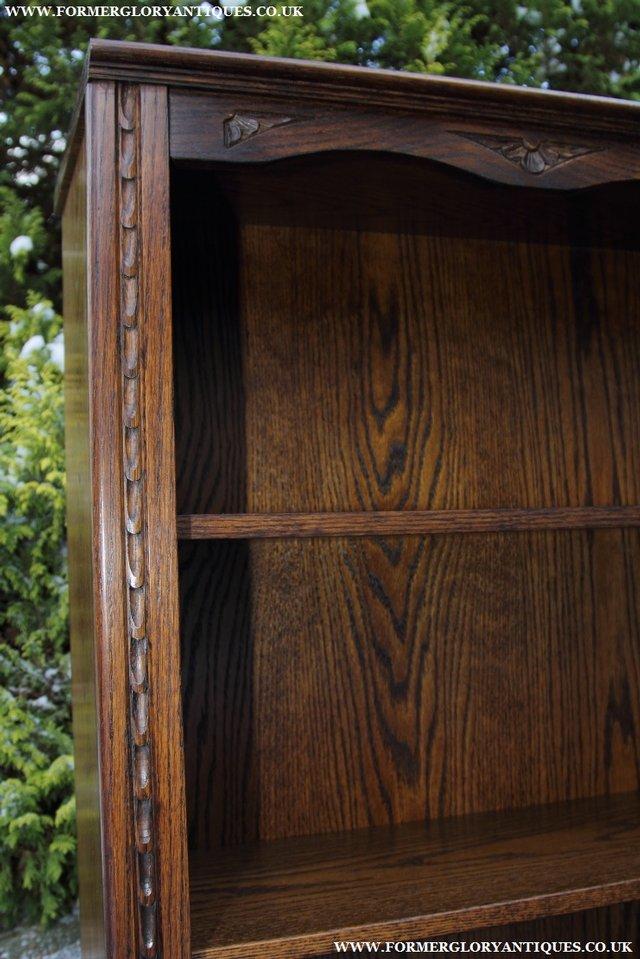 Image 27 of JAYCEE OLD CHARM OAK BOOKCASE WALL OFFICE OPEN BOOK SHELVES
