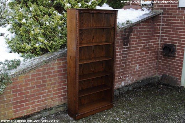 Image 28 of JAYCEE OLD CHARM OAK BOOKCASE WALL OFFICE OPEN BOOK SHELVES