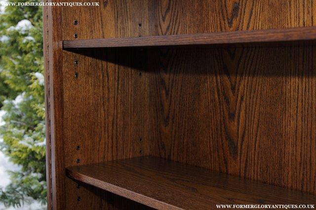 Image 29 of JAYCEE OLD CHARM OAK BOOKCASE WALL OFFICE OPEN BOOK SHELVES