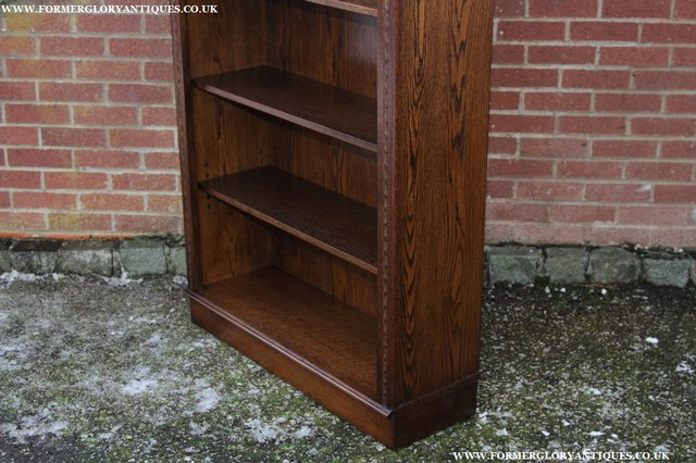 Image 30 of JAYCEE OLD CHARM OAK BOOKCASE WALL OFFICE OPEN BOOK SHELVES