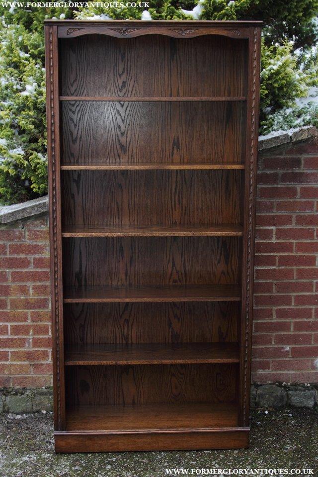 Image 32 of JAYCEE OLD CHARM OAK BOOKCASE WALL OFFICE OPEN BOOK SHELVES