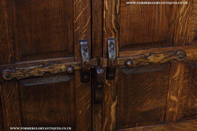 Image 9 of NIGEL GRIFFITHS OAK WALL HANGING CABINET CUPBOARD BOOKCASE