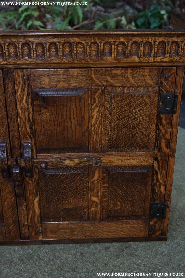 Image 11 of NIGEL GRIFFITHS OAK WALL HANGING CABINET CUPBOARD BOOKCASE