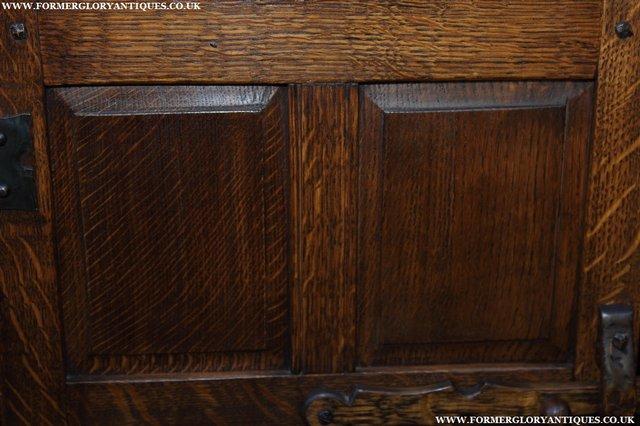 Image 12 of NIGEL GRIFFITHS OAK WALL HANGING CABINET CUPBOARD BOOKCASE