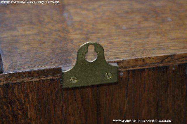 Image 13 of NIGEL GRIFFITHS OAK WALL HANGING CABINET CUPBOARD BOOKCASE