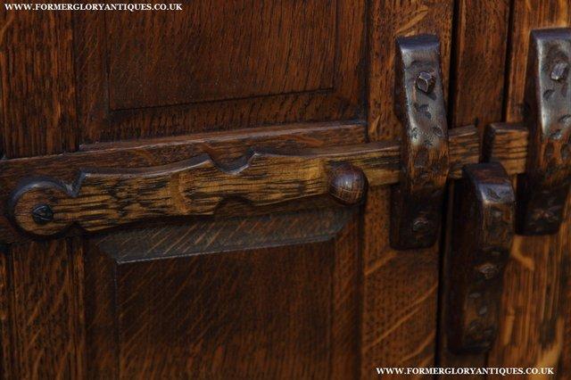 Image 16 of NIGEL GRIFFITHS OAK WALL HANGING CABINET CUPBOARD BOOKCASE