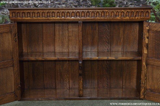 Image 22 of NIGEL GRIFFITHS OAK WALL HANGING CABINET CUPBOARD BOOKCASE